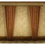 Fleece Tab Drapeless Curtain