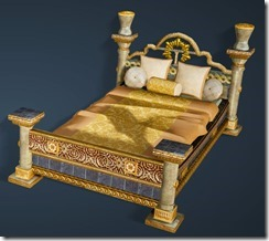 Calpheon Marble and Gold Bed