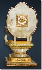 Calpheon Marble and Gold Chair Back