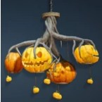 Halloween Pumpkin Chandelier