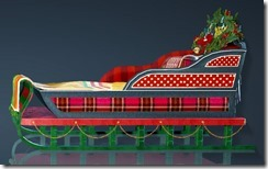Christmas Decorated Bed Side