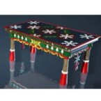 Christmas Decorated Dining Table