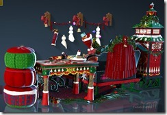 Christmas Interior Set Back