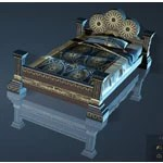 Volcanic Rock Decorated Bed