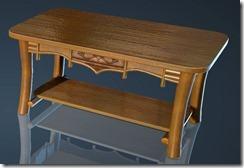 Natural Log Dining Table