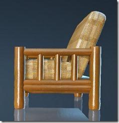 Natural Log Sofa Side