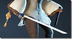 Blushing Maiden Short Sword Drawn