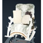 Frosty Wood Rocking Chair