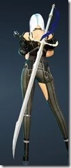 Epheria Marine Dark Knight Kriegsmesser Stowed