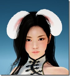 Female White Bunny Ears Front