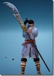 Musa Dark Martial Crescent Blade Stowed