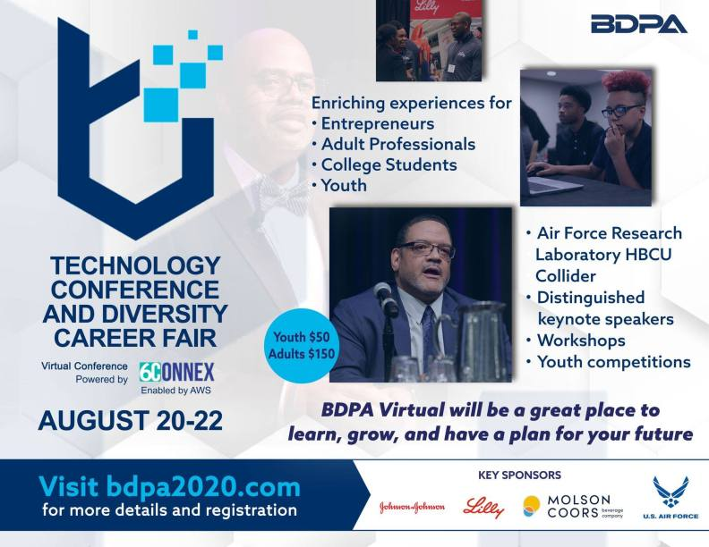 Select here, register today for BDPA2020.