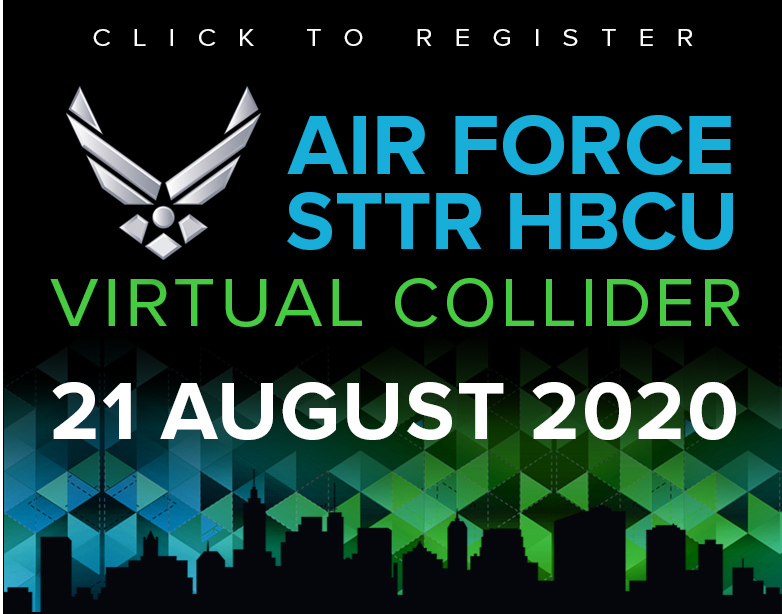 Register today for 2020's Air Force STTR HBCU Virtual Collider
