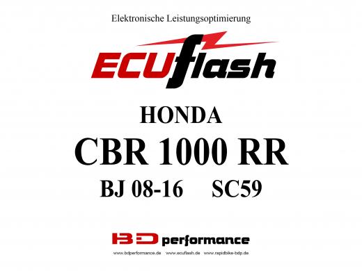 ECUflash Honda CBR1000RR BJ08-16 SC59 Tuning Akrapovic ESE