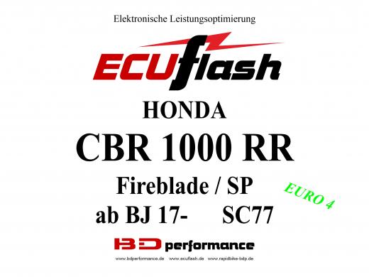ECUflash Honda CBR1000RR BJ20179 Tuning Akrapovic ESE O2
