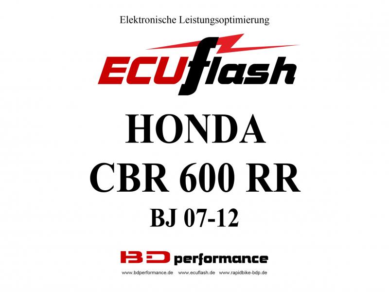 ECUflash Honda CBR600RR BJ07- Tuning Akrapovic ESE O2