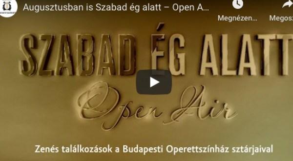 Augusztusban is Szabad ég alatt – Open Air koncertek a Pesti Vármegyeházán!