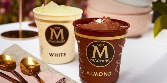 Újrahasznosított műanyag csomagolásban érkezik a poharas Magnum