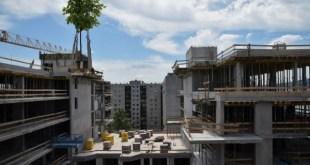 Elérte legmagasabb pontját Újlipótváros új lakóparkja, a Duna Pearl