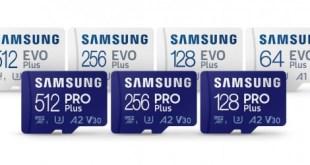 Gyors és időtálló PRO Plus és továbbfejlesztett EVO Plus microSD kártyák a Samsungtól