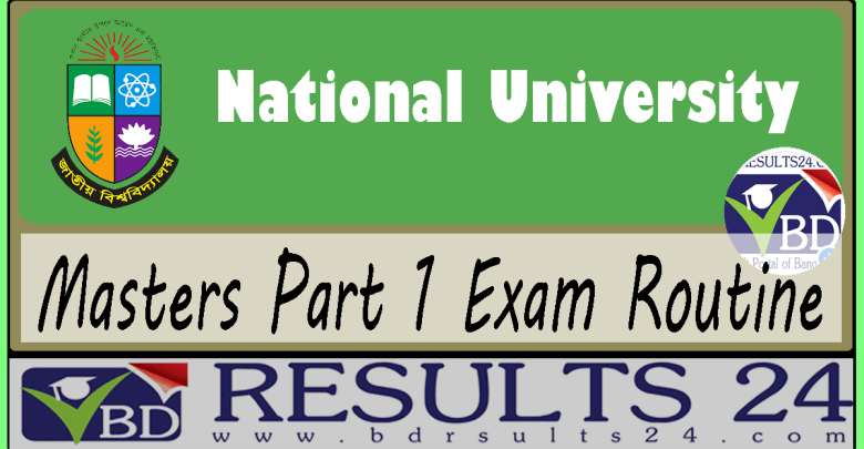 National University Masters Part 1 Exam Routine