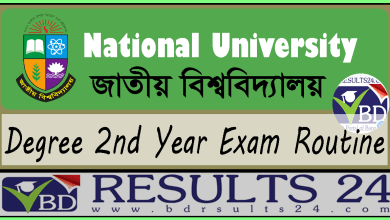NU Degree 2nd Year Exam Routine