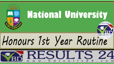 National University Honours 1st Year Routine