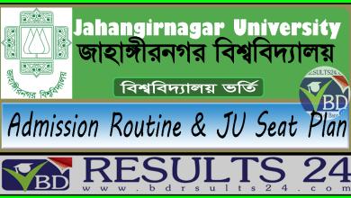Jahangirnagar University Admission Routine & JU Seat Plan