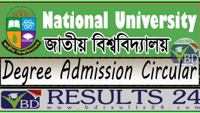 National University Degree Pass Admission Circular