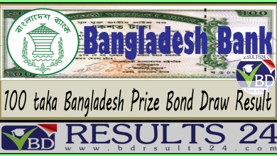 100 taka Bangladesh Prize Bond Draw Result