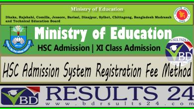 HSC Admission System Registration Fee Method