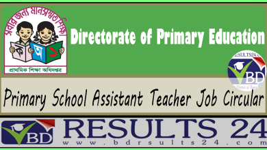Primary School Assistant Teacher Job Circular