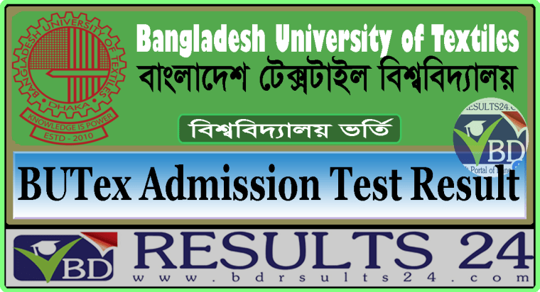 BUTex Admission Test Result