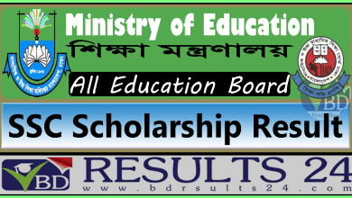 SSC Scholarship Result All Boards