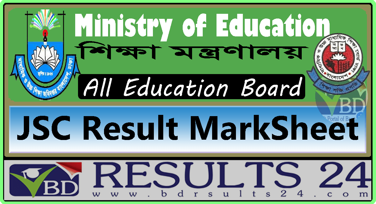 jsc result marksheet www educationboardresults gov bd