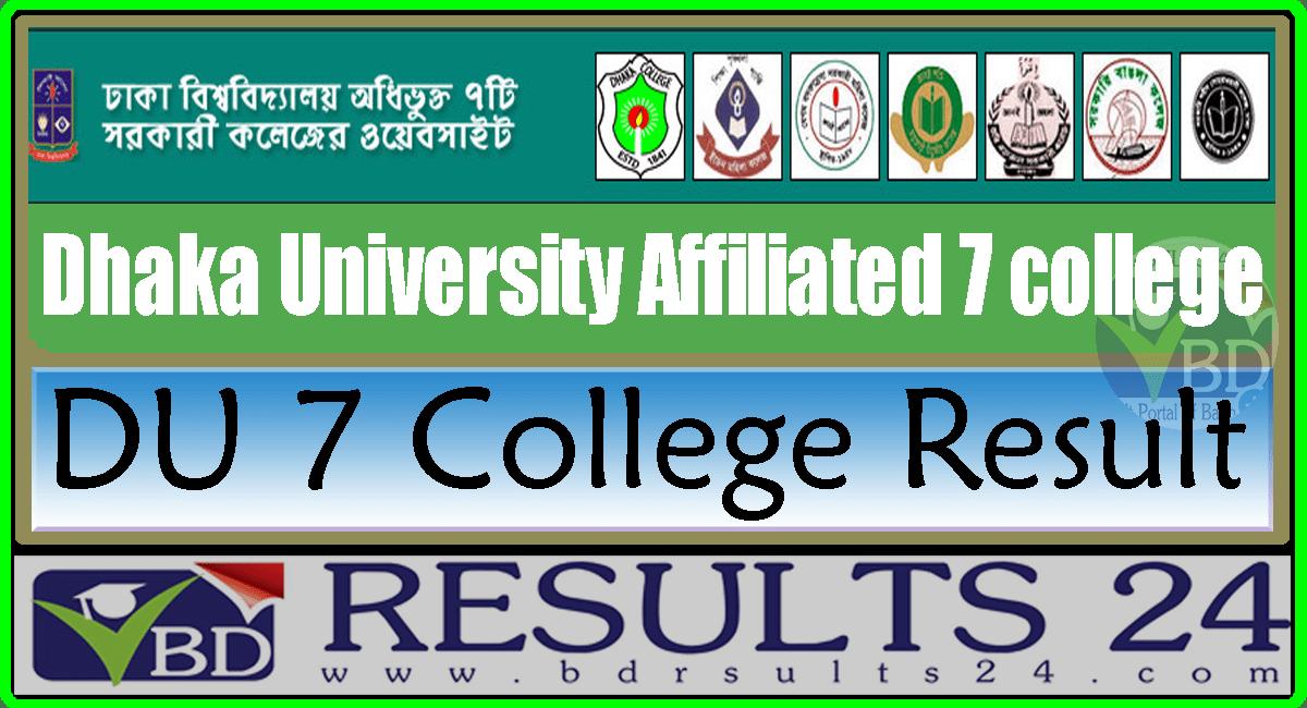DU 7 College Result