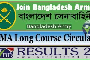 Bangladesh Army BMA Long Course Circular