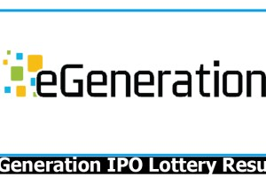 eGeneration IPO Lottery Result