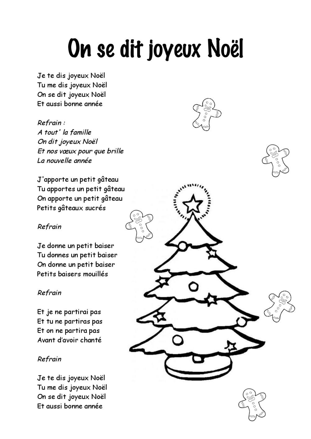 Chansons De Noel Pour Enfants : chansons, enfants, Paroles, Chansons, Noël