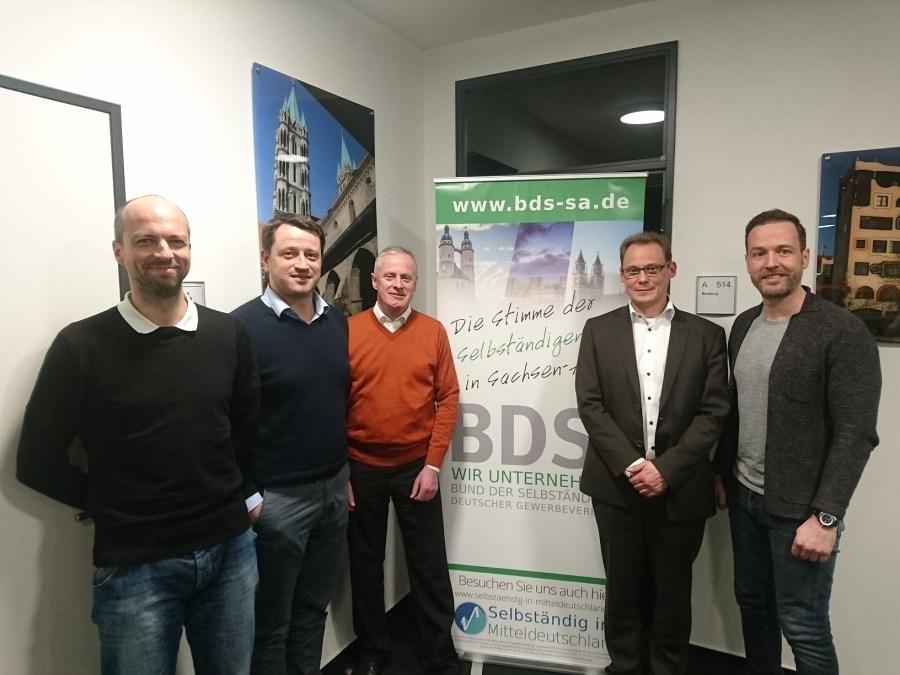 v. l. n. r. Sven Schubert (MD), Marek Schwiesau (HAL), Wilfried Stammwitz (HAL), Ralph Hollritt (MD), Norman Luft (MD)