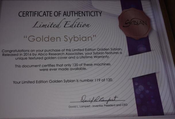 Sybian mit Zertifikat