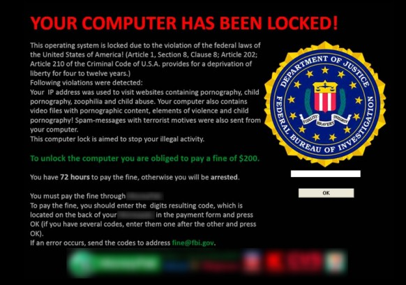 ransomware dialog