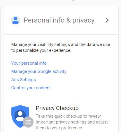 google-privacy-settings