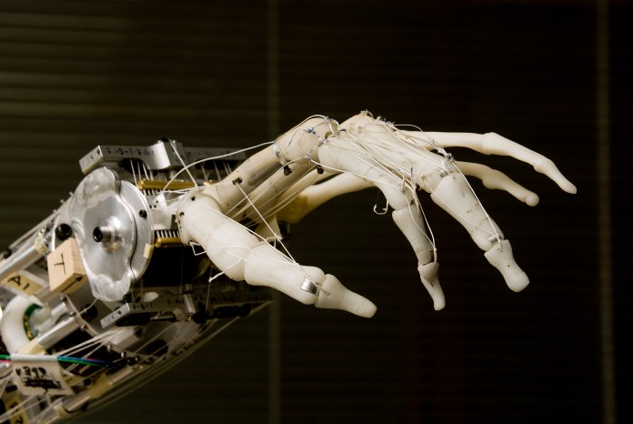 Artificial Intelligence robot hand