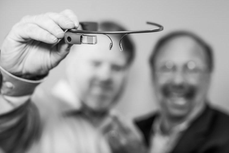 Google Glass AR black white