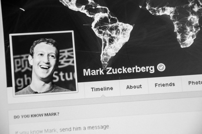 Mark Zuckerberg Facebook page