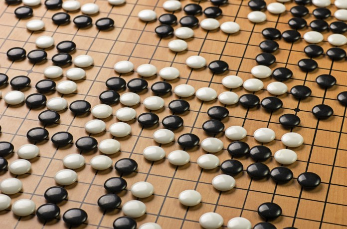 stones on a Go board
