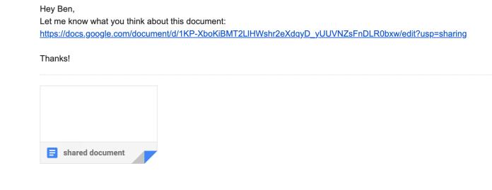 Google docs safe link