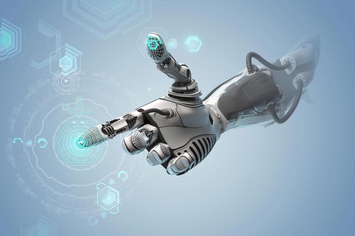 robot main intelligence artificielle