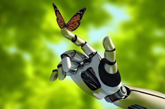 Robotic arm in nature